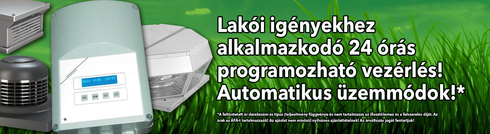 Programozható tetőventilátor vezérlés