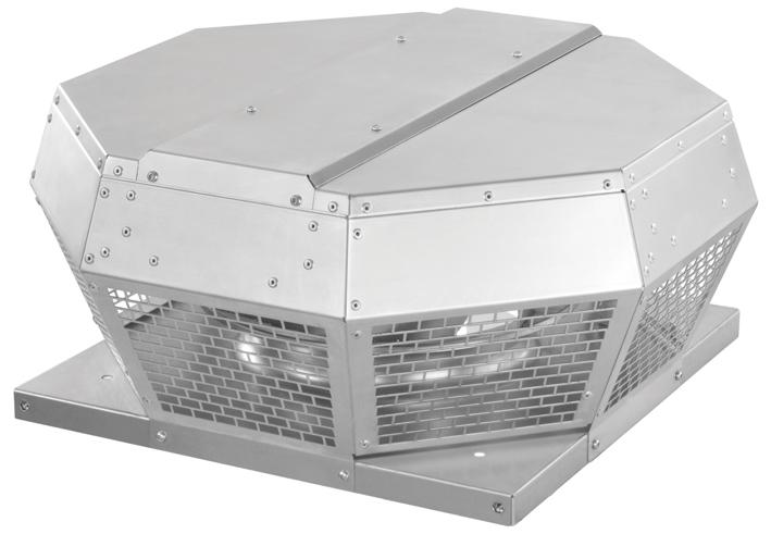 Ruck vizszíntes kifúvású DVA ventilátor