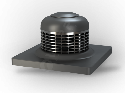 Wirplast WTL 3 vízszintes kifúvású hátrahajló lapátozású tetőventilátor